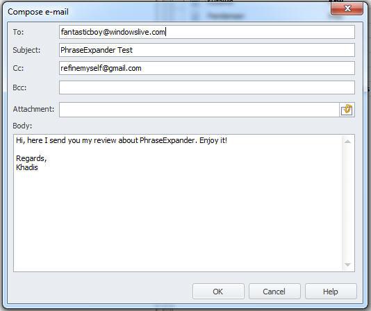 "Create an ""auto-responder"" e-mail"